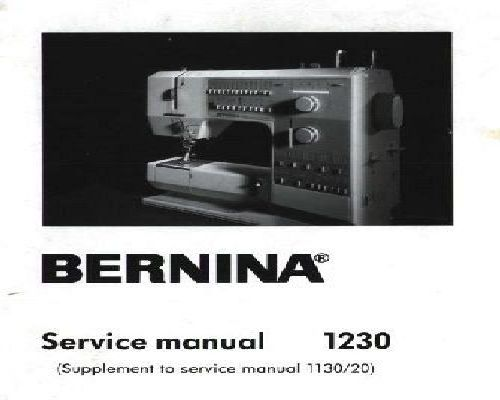 bernina serger 1100 owners manual