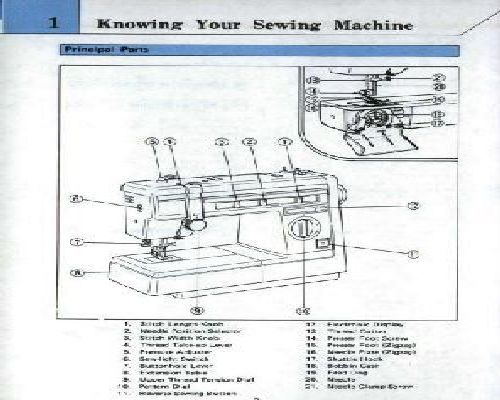 brother pacesetter sewing machine manual