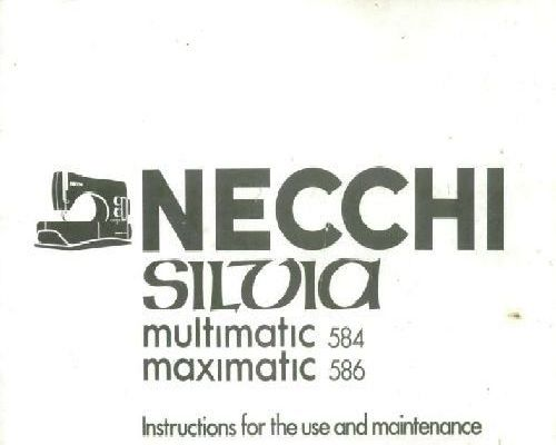 Necchi 522 524 Sewing Machine Instruction Manual
